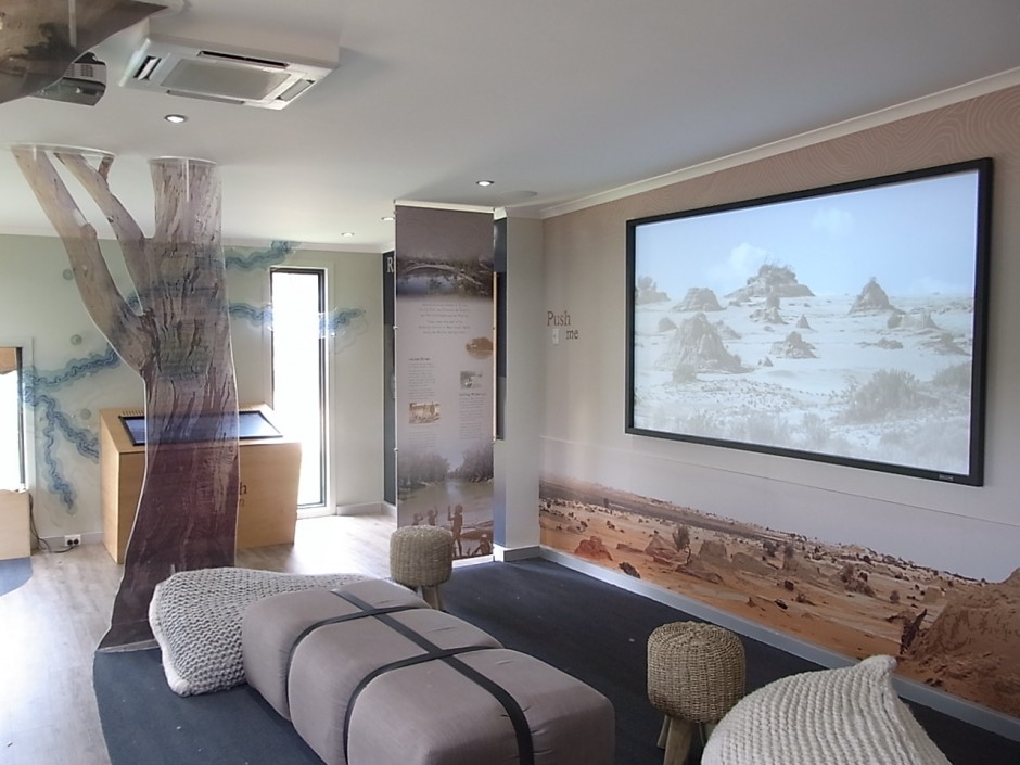 Touch Table and National Parks Screen, Balranald Discovery Centre