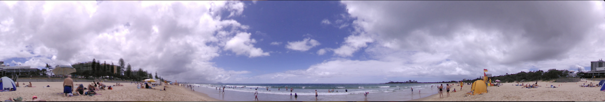 Mooloolaba Beach still shot from our 360 degree camera