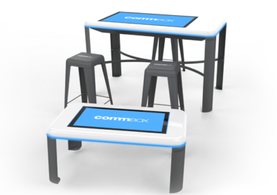 Commbox multitouch tables short and tall